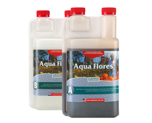 Canna Aqua Flores A&B. 3-0-6. 0-4-4. Aqua Flores is a professional hydroponic nutrient for plants during the blooming phase, specially developed for re-circulating water systems.