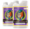 Advanced Nutrients Connoisseur Bloom Part A&B. 3-0-0. 2-4-10. Strictly for the experts: an ultra premium 2-part bloom phase base nutrient uniquely formulated for experienced growers.