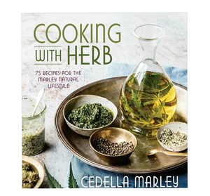Cooking with Herb is more than a collection of recipes—it's a lifestyle book reflecting the Marley Natural brand's holistic clean living philosophy. Wellness guru Cedella Marley, the daughter of famed reggae legend Bob Marley and the face of the premium cannabis brand, grew up in Jamaica with the familiar scent of The Herb and experienced its restorative and spiritual properties firsthand.