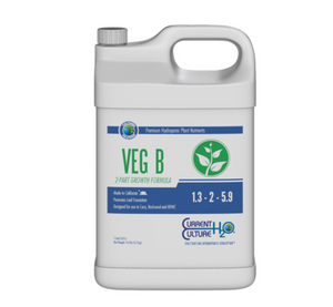 Cultured Solutions Veg A & B combines all necessary macro and micronutrients in a pH stable, chelated form, ideal for high performance hydro and water culture applications. Veg A & B offers plants the minerals needed in ideal ratios to ensure optimal uptake of the nutrient solution is achieved.  Vegetative Formula Exeptionally pH Stable Highly Concentrated Made in California