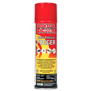 Doktor Doom Go Green Total Release Fogger. One application kills exposed stages of ticks, fleas, cockroaches, ants, spiders, mosquitoes, flies, bed bugs and two-spotted spider mites.