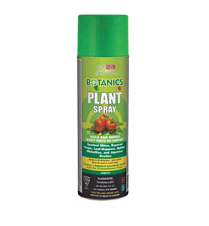 Doktor Doom Go Green Botanics Plant Spray. Kills and repels insect pests on contact. Use for spotted mites, exposed thrips, leaf-hoppers, aphids, whiteflies, and Japanese beetles.