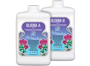 Dutch Nutrient Bloom A&B. 3-0-3. 1-0.5-3. Bloom A&B is complete nutrition for plants in hydroponics, soil & coco during the flowering period.