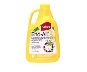 Miticide, insecticide, acaricide. Controls all stages of aphids, whitefly, scale, spider mites, mealybugs, caterpillars, beetles, chinch bugs and other insects. Concentrate, must be diluted with water before use.