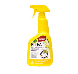 Miticide, insecticide, acaricide. Controls all stages of aphids, whitefly, scale, spider mites, mealybugs, caterpillars, beetles, chinch bugs and other insects. Ready-to-use.