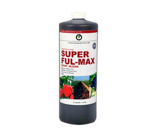 Liquid fulvic acid. Natural chelator and stabilizer. Biological food source and buffering agent. Super Ful-Max is an excellent complement to any synthetic or organic fertilizer. It is especially beneficial in freeing up nutrients locked up in the soil, making them readily availble to the plant as needed. Super Ful-Max consists of beneficial trace elements that activate important enzymes in the plant.