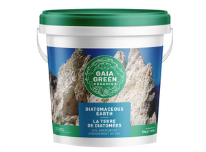 Gaia Green Diatomaceous Earth is a naturally occurring sedimentary rock, consisting of fossilized remains of diatoms - silica rich, single-celled algae. This soil amendment encourages retention of water and nutrients, while draining freely and allowing high oxygen circulation within the growing medium.