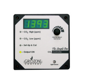 This easy to use CO2 controller determines precisely when to activate and shut-off CO2 generators to maintain user-defined LOW and HIGH CO2 values in the grow room. The unit can deactivate CO2 enrichment during the night cycle and perform CO2 evacuation as well. The CO2 sensor is located in the controller box.