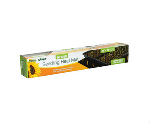 This heating mat is designed to help give seedlings a kick start in the rooting process. The strong heating wire and thick multi-layer construction offers more uniform heating and the durability to withstand rugged greenhouse environments. This waterproof mat is the only UL listed seedling heat mat on the market and increases the success of seedlings and cuttings. Warms root area 10-20 degrees over ambient temperature to improve germination. Give your plants a boost with the HydroFarm Heat Mat.  Power cord