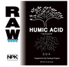 Raw Humic Acid. Raw Humic Acid acts as a pH buffer to stabilize soil acidity and resist pH changes.