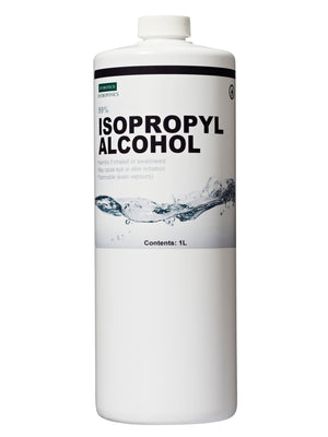 99% ISO, Isopropyl alcohol kills bacteria on contact.