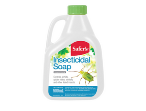Safer's Insecticidal Soap Concentrate eliminates insect pests so your plants can grow healthy and strong.  This special formulation of insecticidal soap kills soft-bodied insects while remaining gentle enough to spray directly on your plants.  Safer's Insecticidal Soap has no unpleasant odour, so you can still enjoy the natural aromas of your garden. This OMRI Listed insect killer is compliant for use in organic gardening.