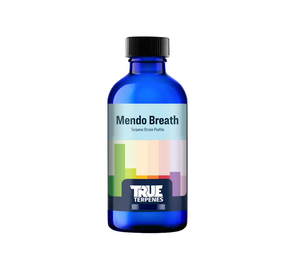 Mendo Breath is as soothing as a day at the beach near this profile's namesake county of Mendocino. Mendo Breath emits sugary vanilla, carmel odors with fruity, floral notes mixed in.  Fragrance: Sweet, floral, earthy  Effect: Pairs well with dinner, post workout or any time you are unwinding.