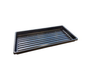These Mondi shallow propagation trays with holes are perfect for growing microgreens.