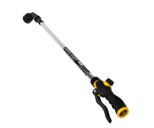 "The Mondi Telescopic Water Wand features a soft showering head that lets water flow gently to your plants and flowers providing a stream that won't damage fragile leaves and stems. The wand extends from 36"" to 52"" and has an adjustable flow control built into the handle."