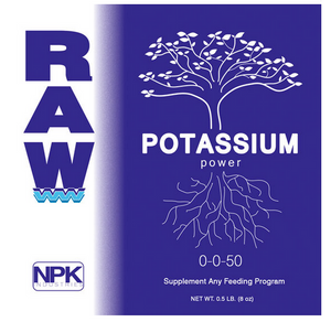 Raw Potassium. Potassium is another essential nutrient for healthy plants.