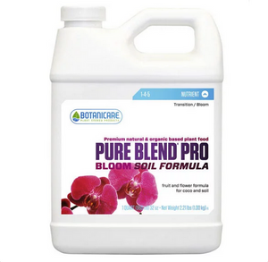 Botanicare Pure Blend Pro Bloom Soil. Pure Blend Pro Bloom Soil is beneficial for fruits, flowers, vegetables, houseplants, shrubs, cacti, and succulents.