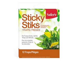 These sticky sticks attract a variety of flying insects, including whiteflies, fungus gnats, thrips, and fruit flies, reducing not just those that feast on your plants, but also other flying nuisances. The special formula attracts insects like a magnet, killing them and reducing your infestation without harmful pesticides.