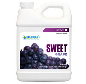 Botanicare Sweet Grape. Sweet Grape is specially formulated to produce beneficial results during all phases of plants growth.