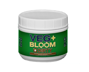 Veg+Bloom Dirty is enriched with organic compounds and pH ready for Peat/Soil mixes. It works extraordinarily well in Hydroponics as well. Dirty grown products will be super rich in sugars and essential oils. Formulated for growers using RO water, soft water, or source water with low alkalinity.