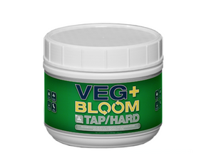 Veg+Bloom Tap/Hard nutrient powder is formulated for growers using tap or well water high in alkalinity.