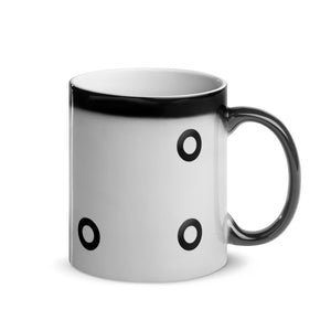 Glossy Black O-Ring Magic Mug 11oz