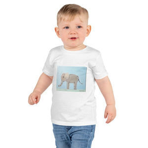Animal Collage T-shirts 2105W Kids Fine Jersey Short Sleeve T-Shirt (White / 6yrs)