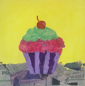 Cupcake Collage Canvas Project