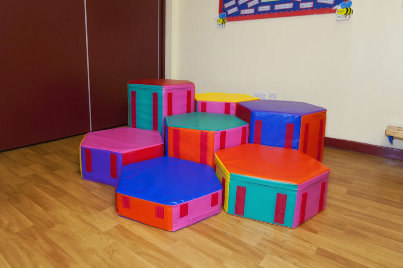 Giant Soft Play Staircase Set - UK Gym Pits