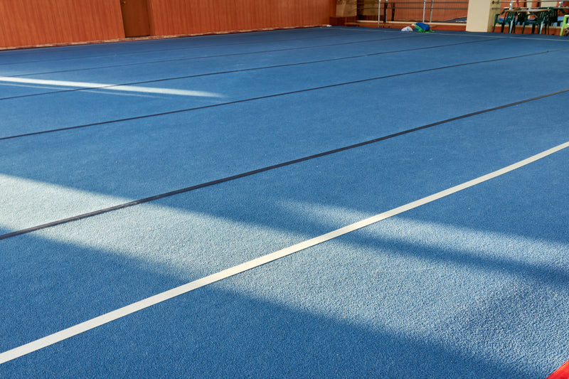 Gymnastics Sprung Floor - 42' by 42' (12.8m by 12.8m) - UK Gym Pits
