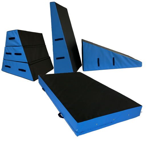 Parkour Wedge Blocks - UK Gym Pits