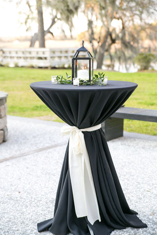 Black lantern wedding centerpiece
