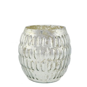 Barrel Shaped Mercury Glass Votive Rental