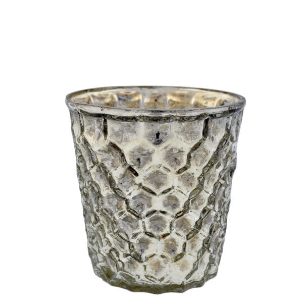 Mercury Glass Honeycomb Votive