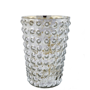 Mercury Glass Hobnail Votive Rental