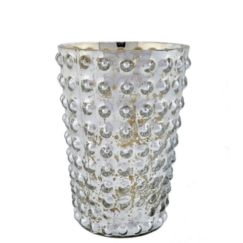 Mercury Glass Hobnail Votive