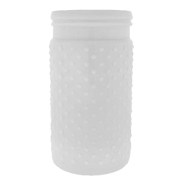 "White Hobnail Vase 7.5"" Rental"