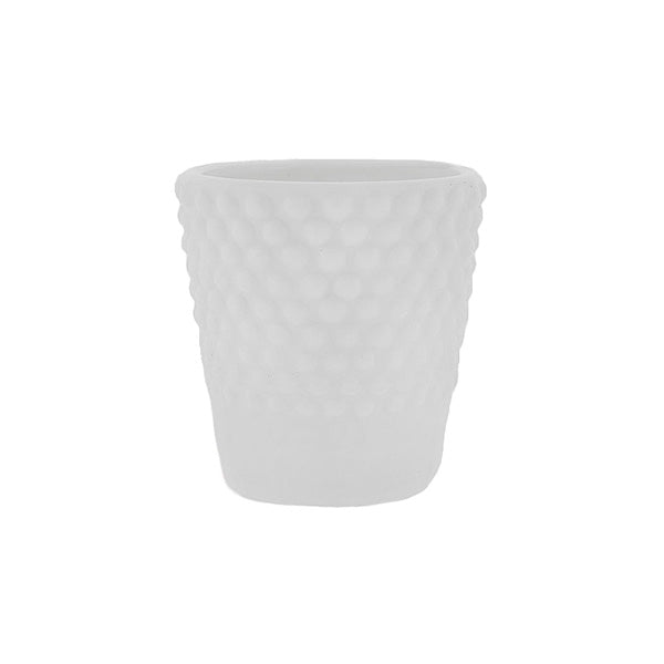 White Hobnail Votive Rental
