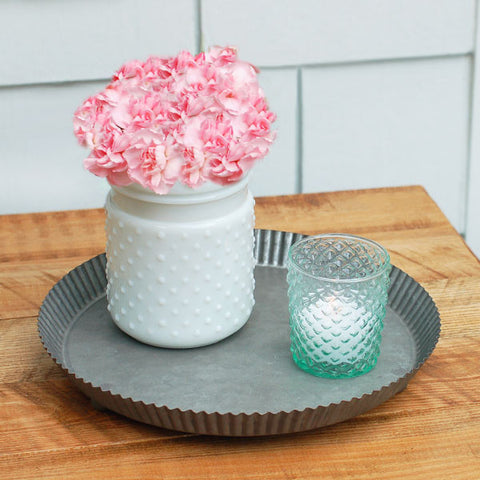 "White Hobnail Vase 5.75"" Rental"