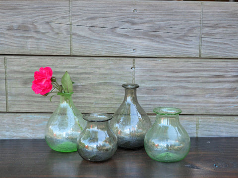 Recycled Green Glass Bud Vase