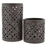 Bali Cutout Ceramic Candle Holder Rental