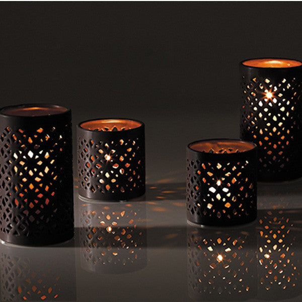 Bali Cutout Ceramic Candle Holder