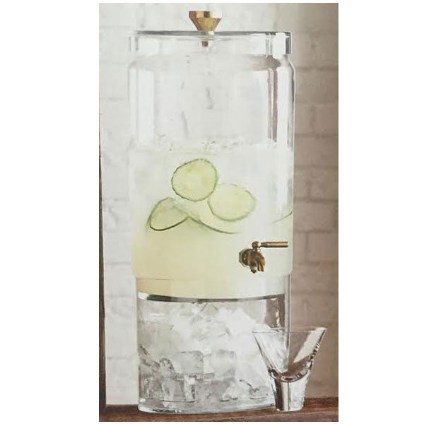 Bergen Glass + Brass Beverage Dispenser Rental