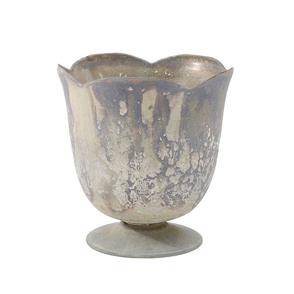 Chelsea Marbled Glass Tulip Pedestal Vase Rental