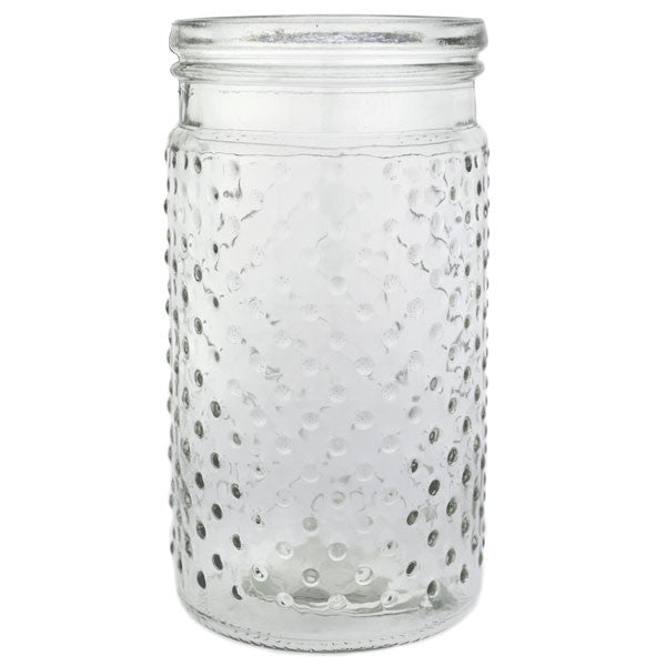"Glass Hobnail Vase 7.5"" Rental"
