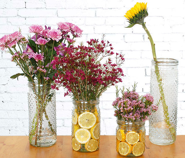 "Glass Hobnail Vase 10"" Rental"