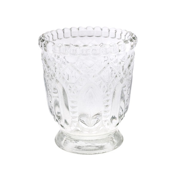 Deco Textured Pressed Glass Votive Rental