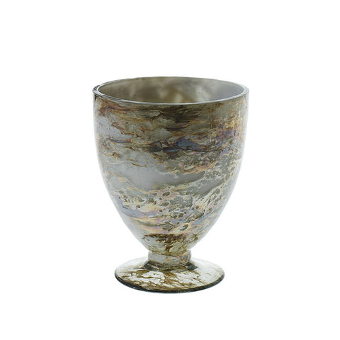 Embrace Marbled Glass Pedestal Vase Rental