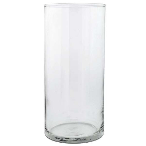 "Glass Cylinder Vase 7.5"" Rental"