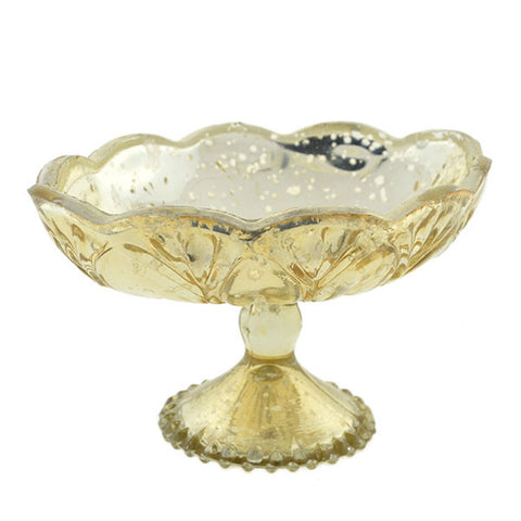 Gold Mercury Glass Carraway Stand